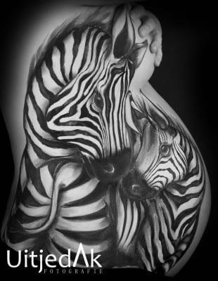 Bellypaint zebra Tera Bakker UitjedakFotografie Nieuwegein