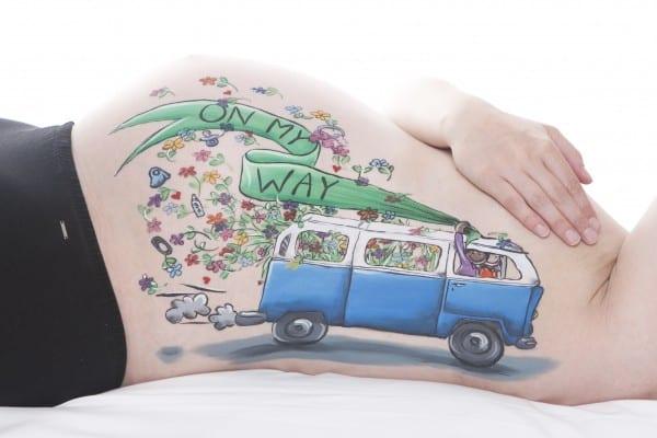 Bellypaint Volkswagen busje Tera Bakker UitjedakFotografie
