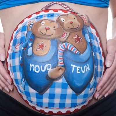 Bellypaint thema Stoer, ontwerp Tera Bakker UitjedakFotografie