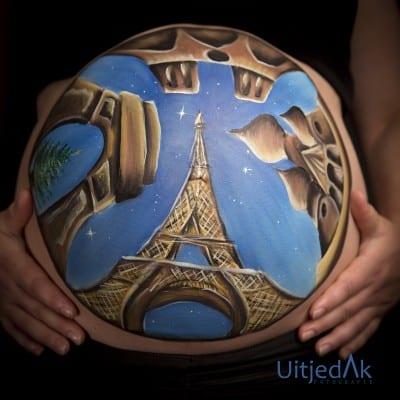 Bellypaint Parijs Tera Bakker UitjedakFotografie