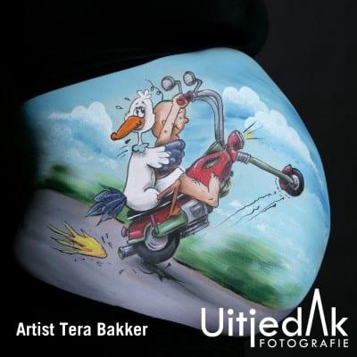 Bellypaint Buikschildering Motor baby Tera Bakker