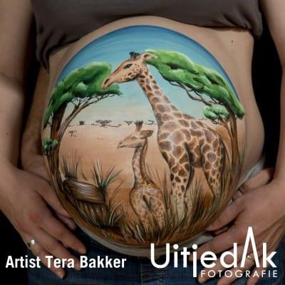 Bellypaint Giraffen Safari Tera Bakker