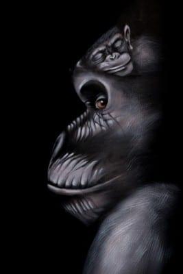 Bellypaint bodypaint Gorilla Tera Bakker UitjedakFotografie