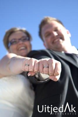 Trouwreportage, bruidsfotograaf ringen, UitjedakFotografie Nieuwegein