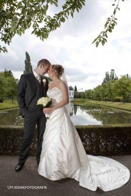Trouwreportage bruidspaar, park fotoshoot UitjedakFotografie Nieuwegein