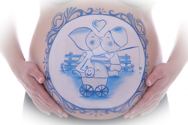 Bellypaint Delfts blauw Tera Bakker - UItjedakFotografie